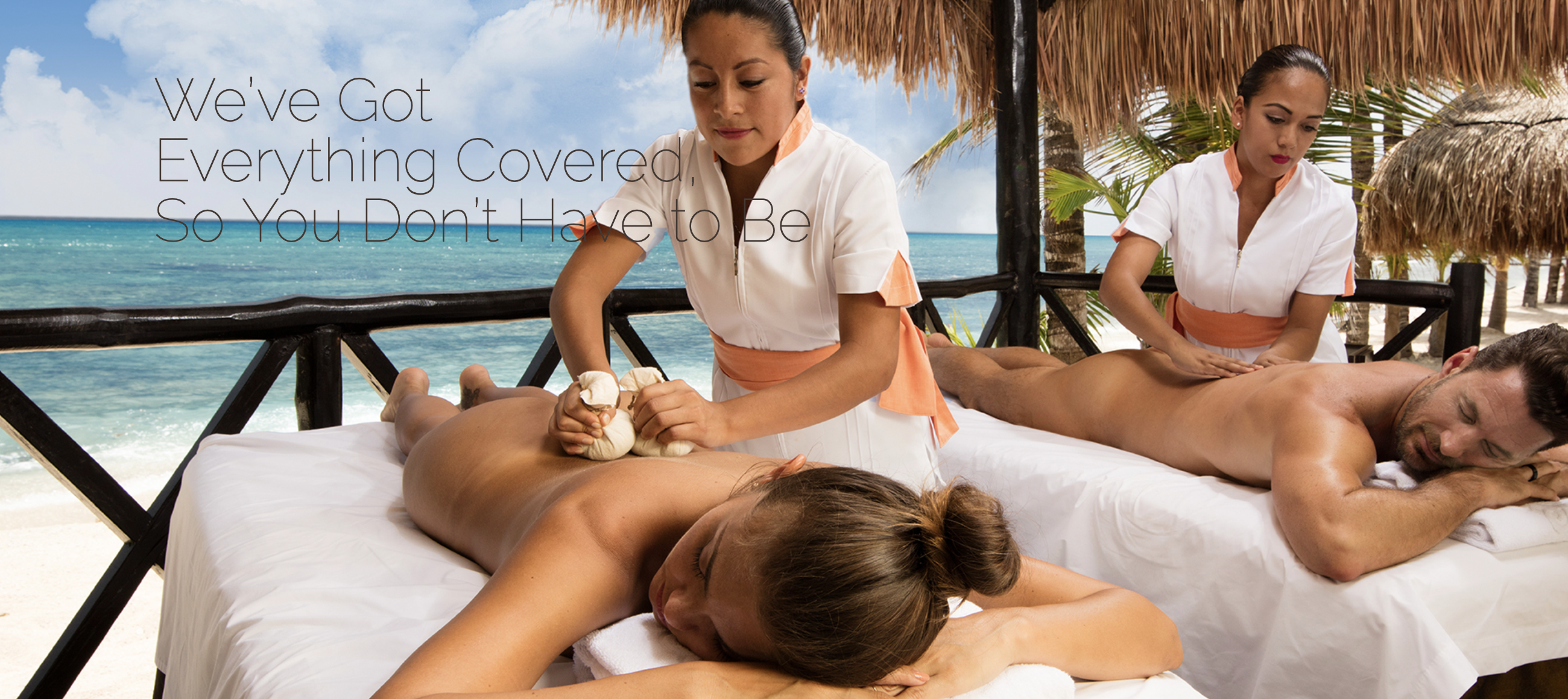 Experience a massage on the beach
